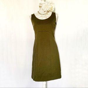 Michael Kors // Gold Exposed Zipper Green Dress 6